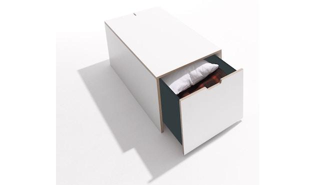 Müller Möbelwerkstätten - Bettkasten 16  KLASSIK - weiß Birke - 93x46,7 - 1