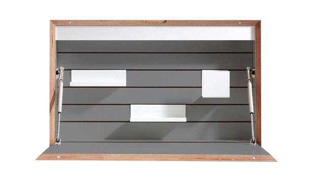 Müller Möbelwerkstätten - FLATBOX Sekretär - anthrazit - LED Leuchte und Steckdose - 1