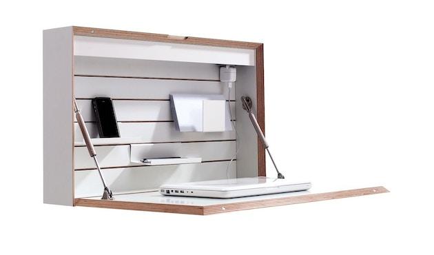 Müller Möbelwerkstätten - FLATBOX Sekretär - weiß - LED Leuchte und Steckdose - 12