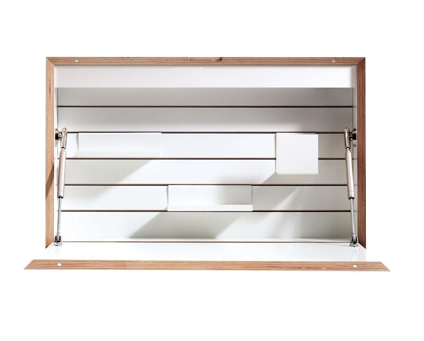 Müller Möbelwerkstätten - FLATBOX Sekretär - weiß - LED Leuchte und Steckdose - 1