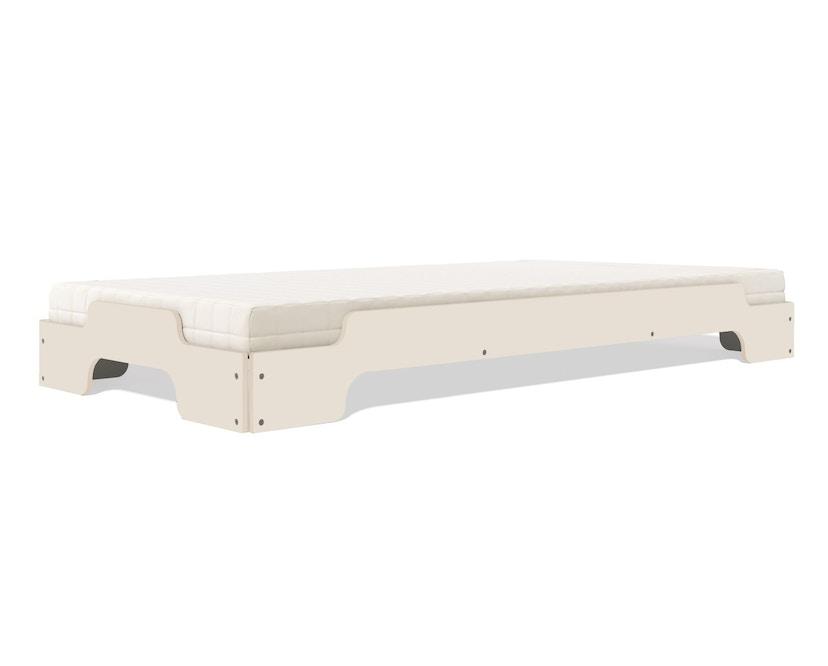 Müller Möbelwerkstätten - Stapelliege für Kinder - CPL weiß & Birkenschichtholzkante - 3