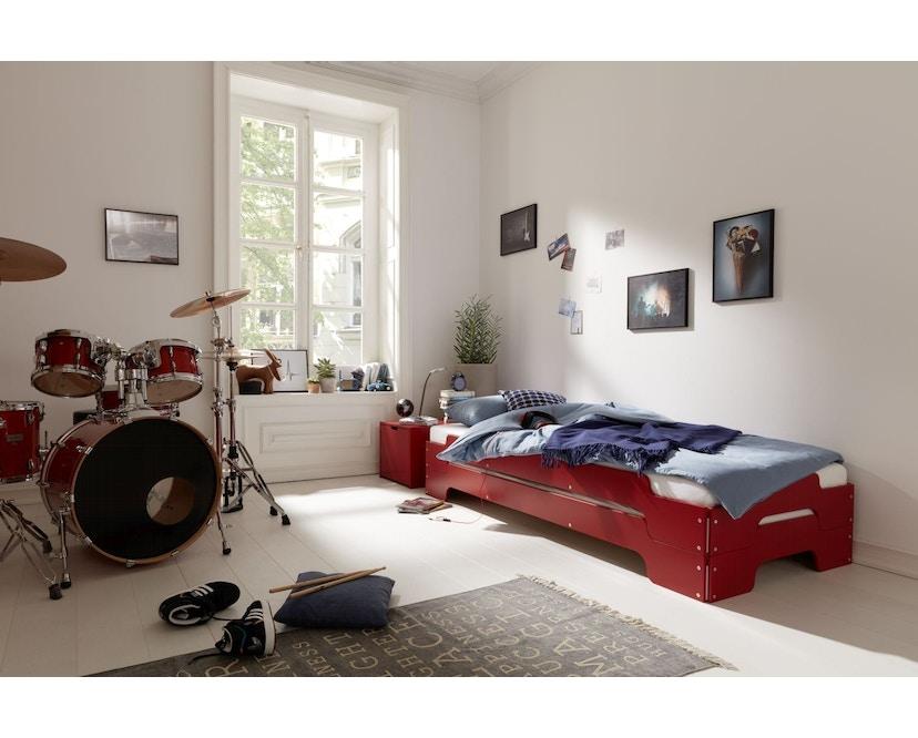 Müller Möbelwerkstätten - Stapelliege für Kinder - CPL weiß & Birkenschichtholzkante - 5