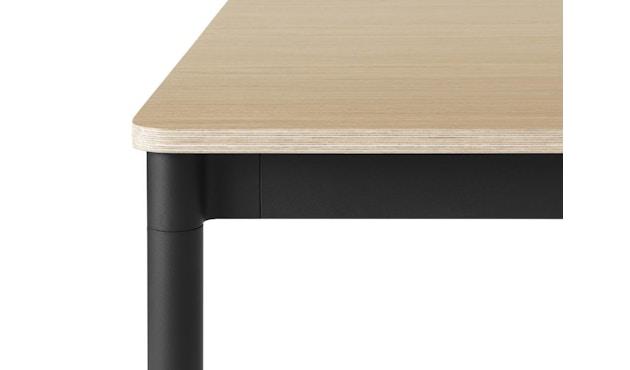 Muuto - Base Tisch rechteckig - L - schwarz/ Eiche Furnier/ Plywood - 2