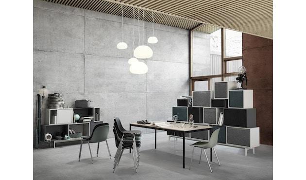 Muuto - Base Tisch rechteckig - L - schwarz/ Eiche Furnier/ Plywood - 3