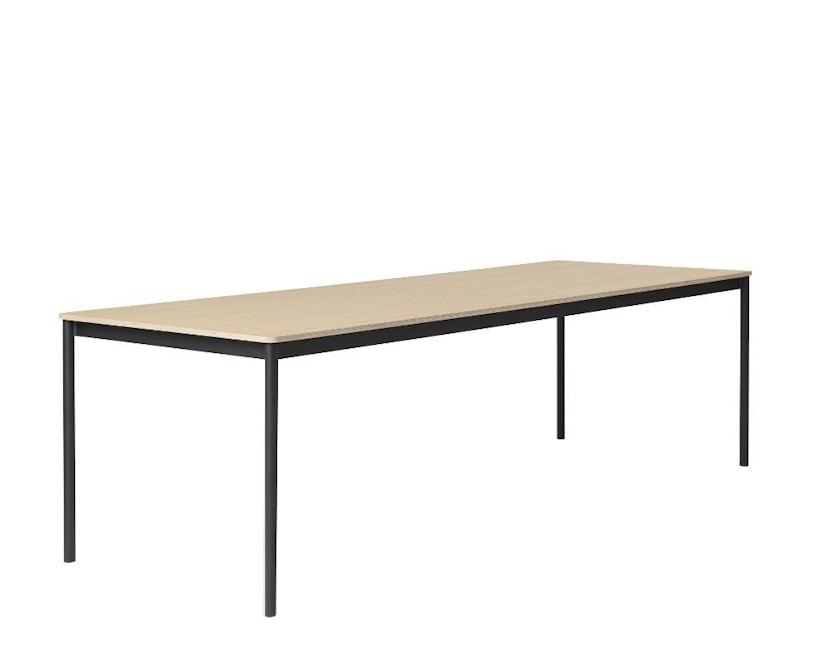 Muuto - Base Tisch rechteckig - L - schwarz/ Eiche Furnier/ Plywood - 1