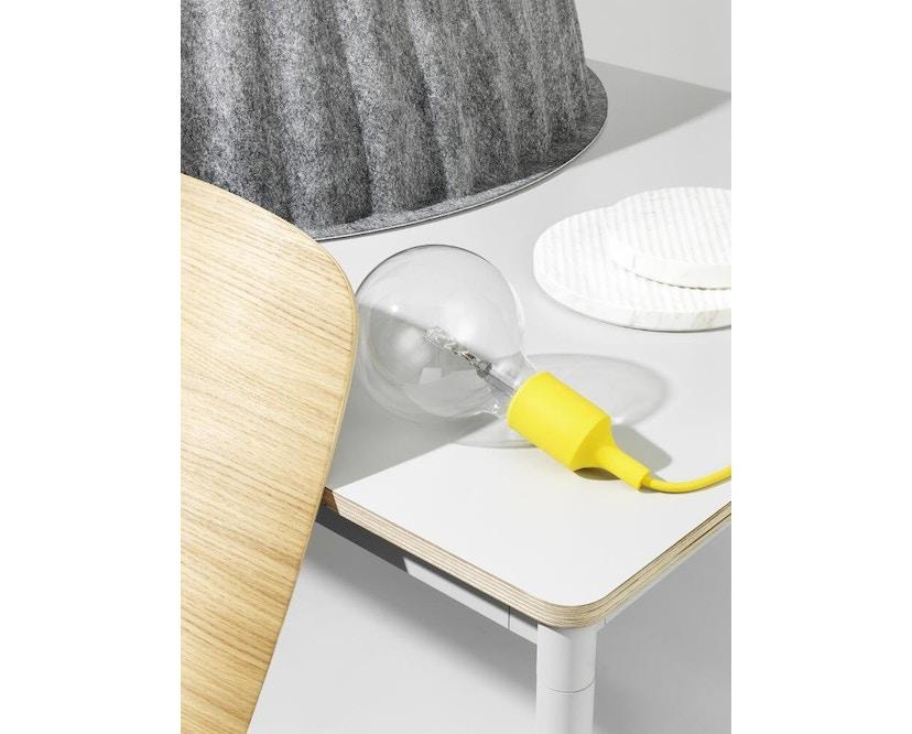 Muuto - Base Tisch rechteckig - L - weiß/ weiß Laminate/ Plywood - 2