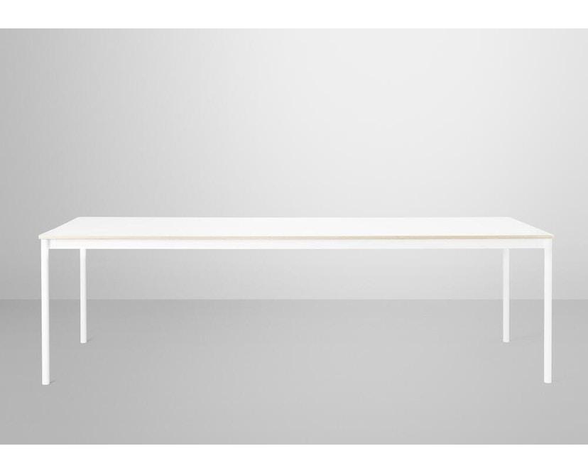 Muuto - Base Tisch rechteckig - L - weiß/ weiß Laminate/ Plywood - 3