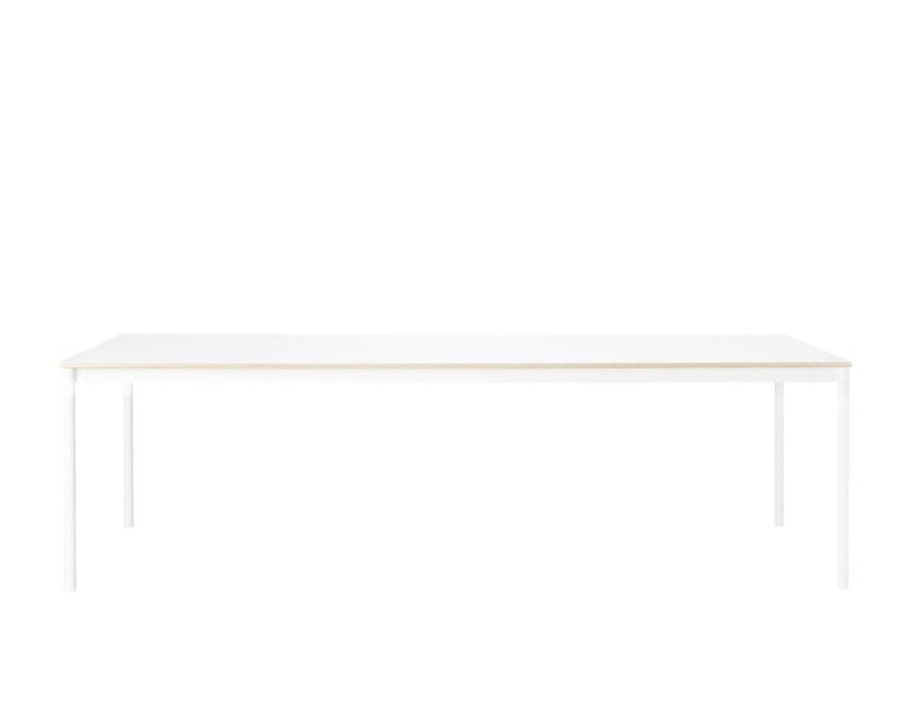 Muuto - Base Tisch rechteckig - L - weiß/ weiß Laminate/ Plywood - 1