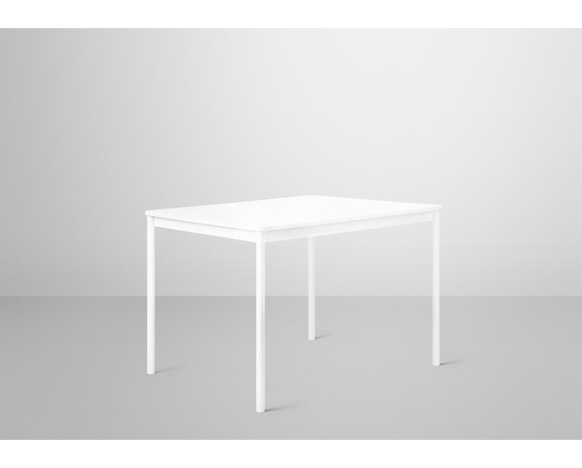 Muuto - Base Tisch rechteckig - S - weiß/ weißes Laminat - ABS - 4