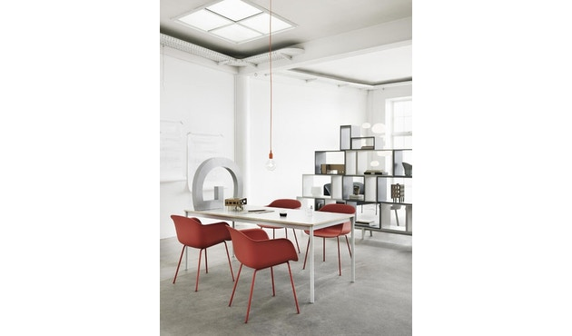 Muuto - Base Tisch rechteckig - S - weiß/ weißes Laminat - ABS - 5