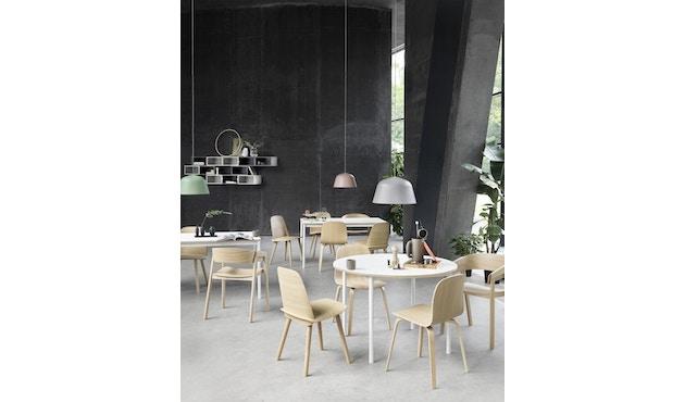 Muuto - Base Tisch rund - weiß/ weiß Laminate/ Plywood - 3