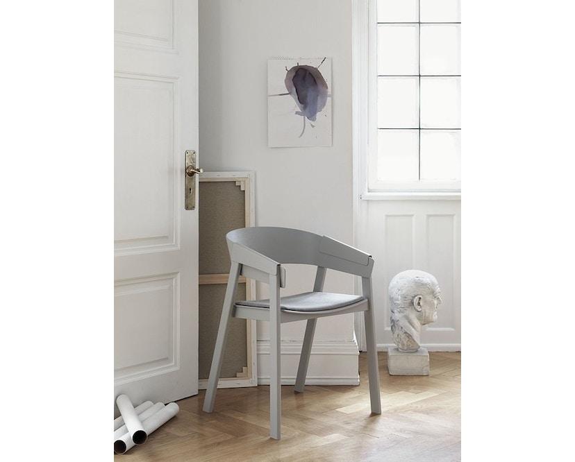 Muuto - Cover Stuhl mit Lederpolster -Leder schwarz - 2
