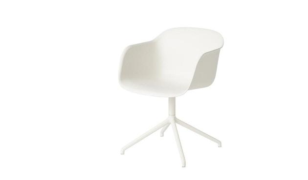 Muuto - Fiber Armlehnstuhl - Drehfuß - naturweiß/ weiß - 1