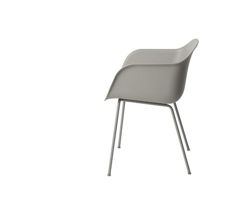 Muuto - Chaise Fiber - Structure tubulaire - Gris - Structure grise - 2