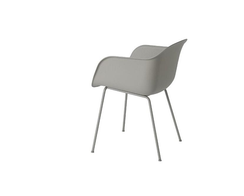 Muuto - Chaise Fiber - Structure tubulaire - Gris - Structure grise - 3