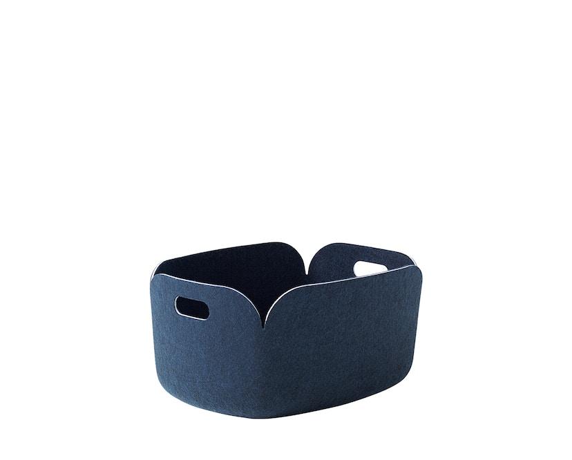 Muuto - Corbeille de rangement Restore, carrée - bleu nuit - 7