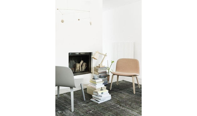 Muuto - Visu Lounge stoel met stoffering - Steelcut Trio 133 - 4