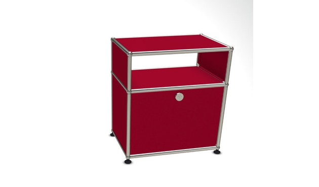 USM Haller - Table de chevet - 1 clapet - 23 rouge rubis - 1
