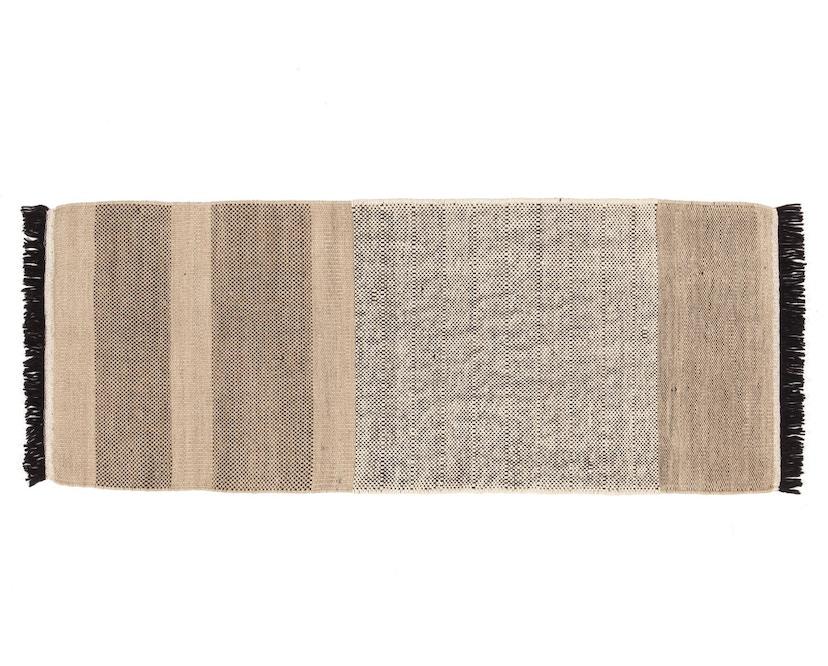 Nanimarquina - Stripes Teppich - schwarz - 80 x 240 cm - 1