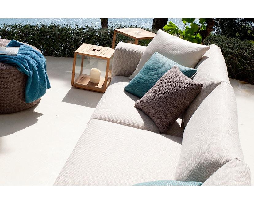 Tribù - Natal Alu Sofa 189 cm - Gestell weiß - Polsterfarbe 65 Natte Basalt - 8