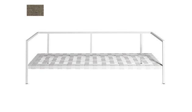 Tribù - Natal Alu Sofa 189 cm - Gestell weiß - Polsterfarbe 65 Natte Basalt - 5
