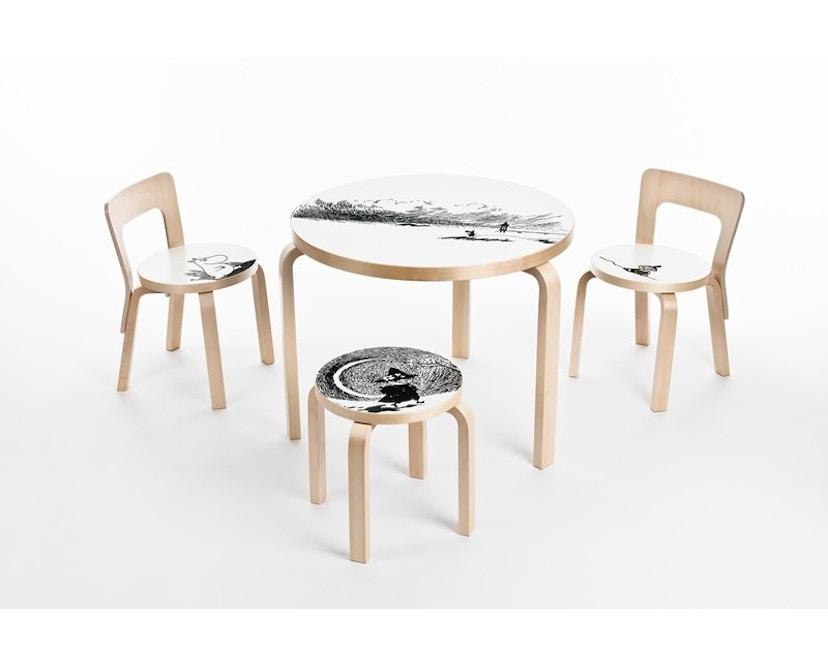 Artek - NE60 Kinderhocker - Gestell Birke/Sitz Birkenfurnier - 2