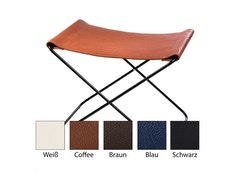 Manufakturplus - Fußteil für Hardoy Butterfly Chair  - Neckleder - 3