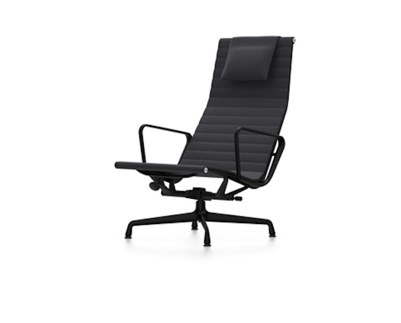 Vitra - Aluminium Sessel - EA 124, Gestell beschichtet tiefschwarz, Filzgleiter Hartboden - Hopsak - 66 nero - 2