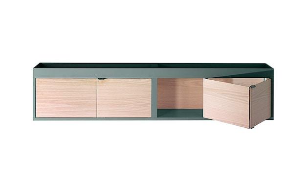 HAY - New Order Wand - Sideboard mit Ablage  - charcoal - Tür Esche schwarz - 1