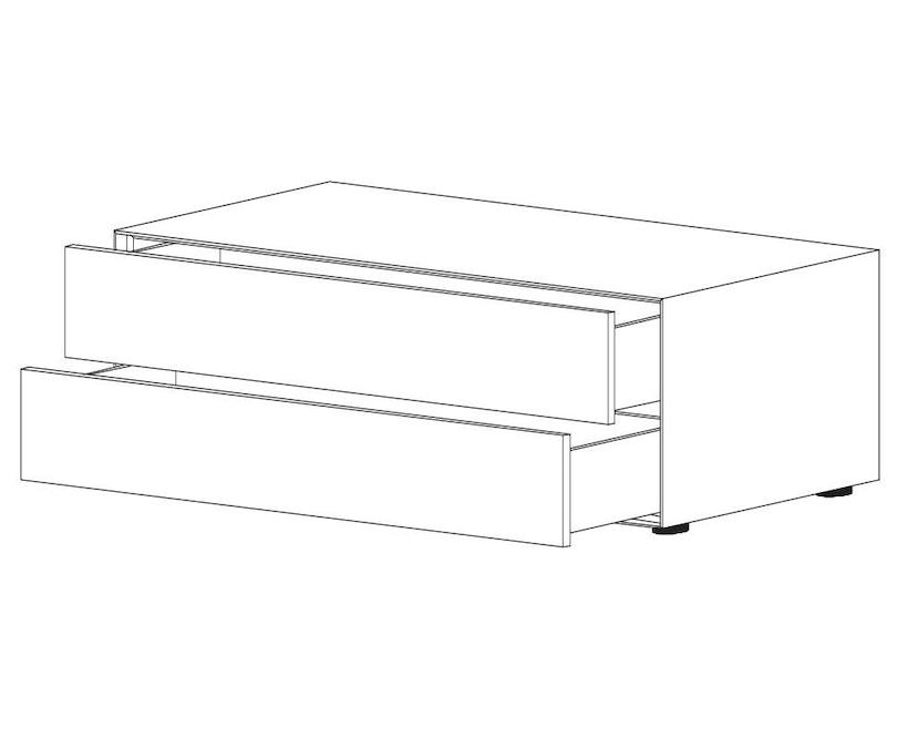 Piure - Nex Pur Box mit Schubkasten - weiß - B120 - H52,5 - 5