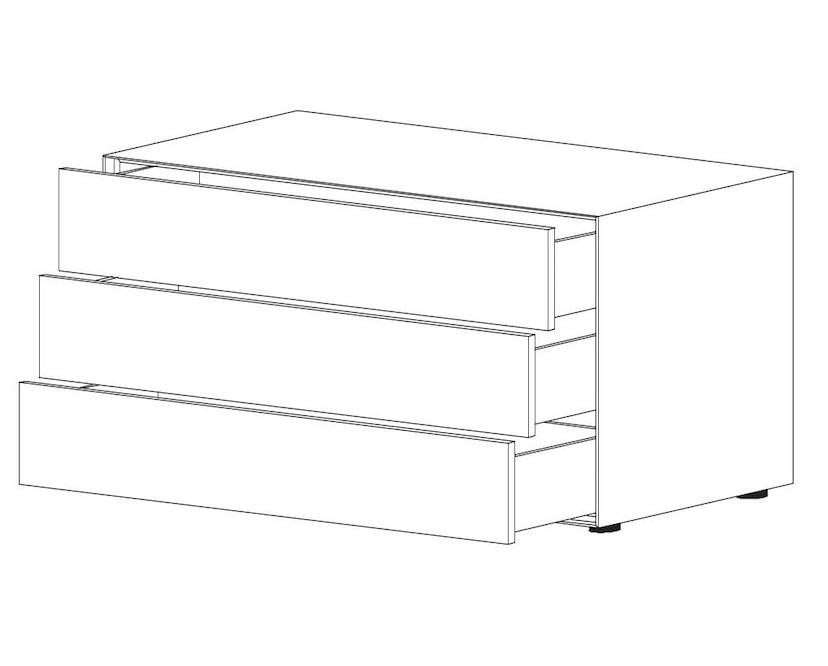 Piure - Nex Pur Box met schuifladen - L - 120 cm - 7