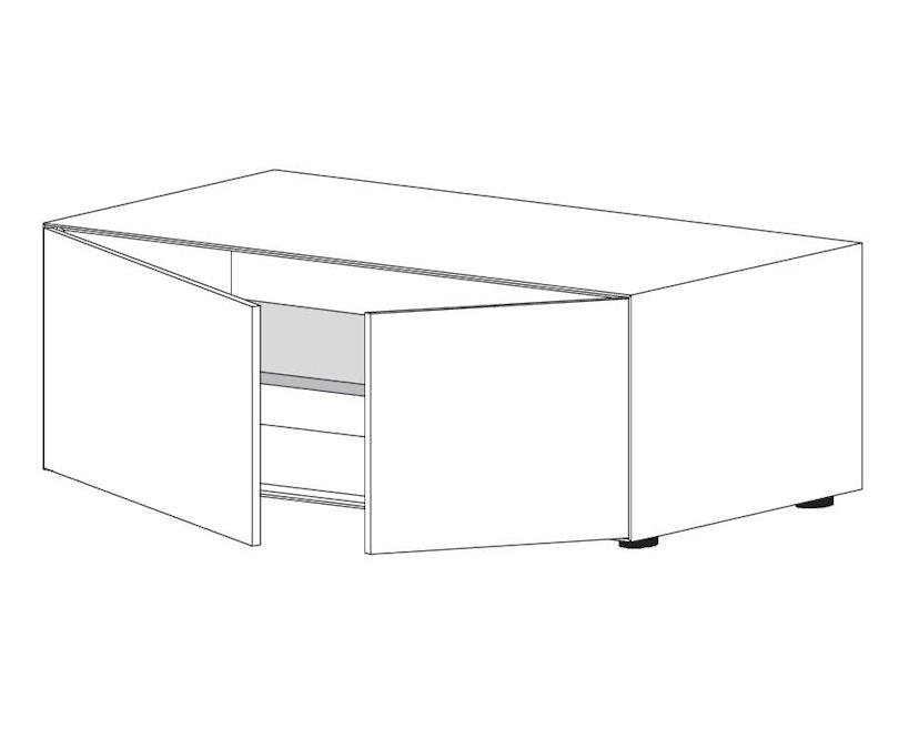 Piure - Nex Pur Box mit Tür - weiß - B120 - H52,5 - 3