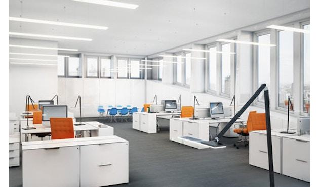 Nimbus - Roxxane Office Tischleuchte - silber-eloxalfarben mit Fußplatte - 10