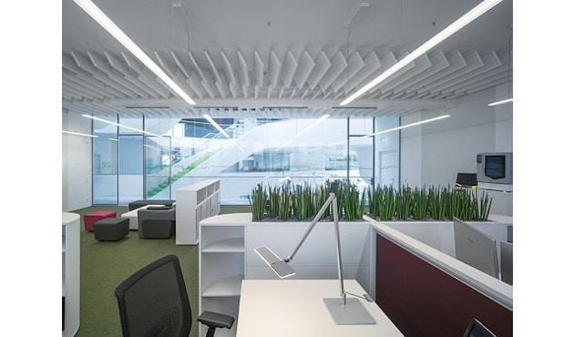 Nimbus - Roxxane Office Tischleuchte - silber-eloxalfarben mit Fußplatte - 11