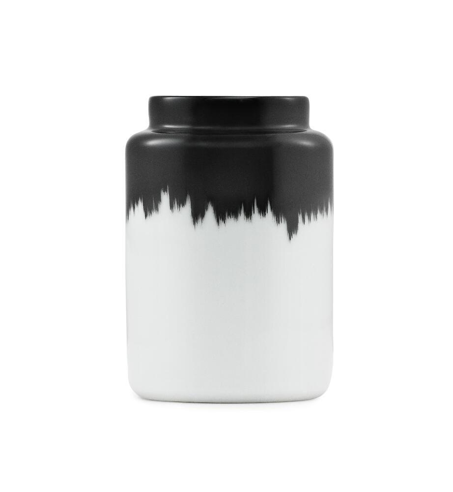 Agnes Vase - schwarz/ weiß - H: 12 cm von Normann Copenhagen