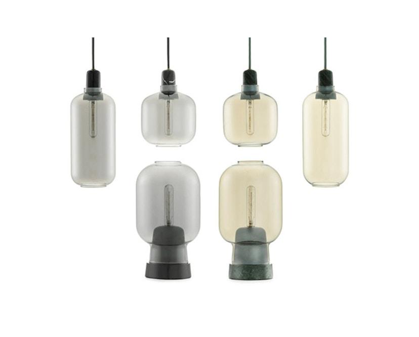Normann Copenhagen - Amp hanglampen - L - zwart/rook - 3