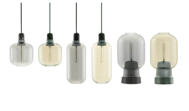 Normann Copenhagen - Amp hanglampen - L - zwart/rook - 4
