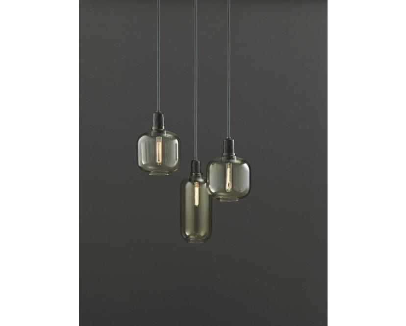 Normann Copenhagen - Amp hanglampen - L - zwart/rook - 5