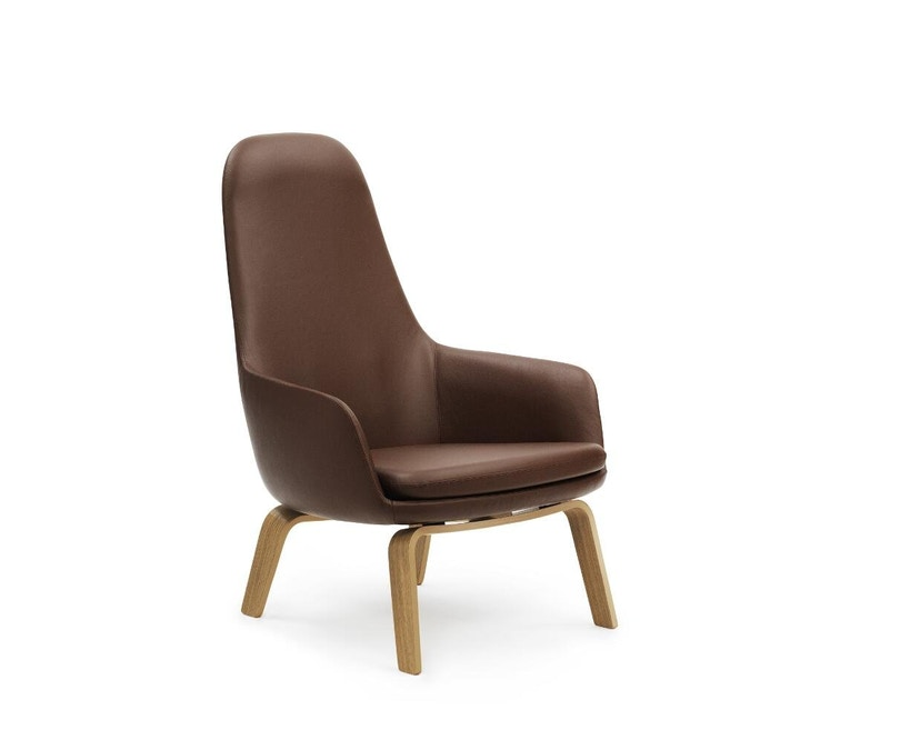 Normann Copenhagen - Era Sessel hoch mit Holzgestell - Leder Tango 41598 - Eiche - 1