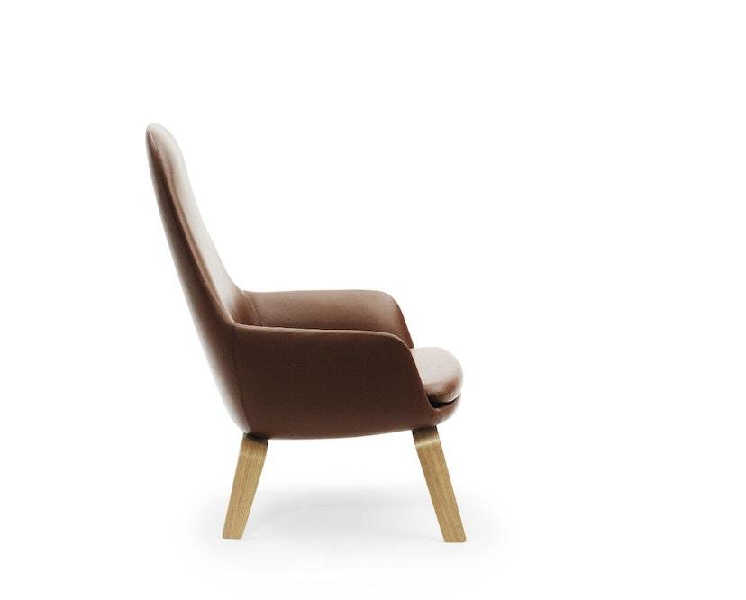 Normann Copenhagen - Era Sessel hoch mit Holzgestell - Leder Tango 41598 - Eiche - 2