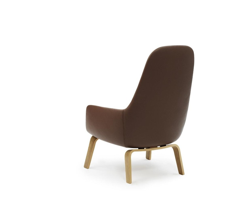 Normann Copenhagen - Era Sessel hoch mit Holzgestell - Leder Tango 41598 - Eiche - 3