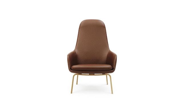 Normann Copenhagen - Era Sessel hoch mit Holzgestell - Leder Tango 41598 - Eiche - 0