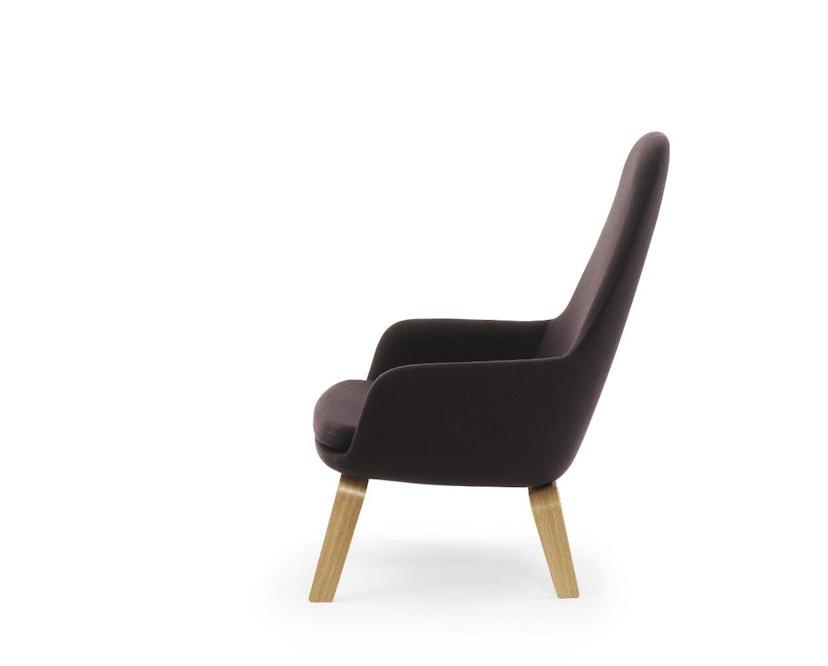 Normann Copenhagen - Era Sessel hoch mit Holzgestell - Stoff Fame 64055 - Eiche - 2