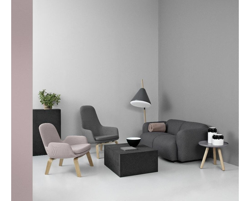 Normann Copenhagen - Era Sessel hoch mit Holzgestell - Stoff Fame 64055 - Eiche - 4