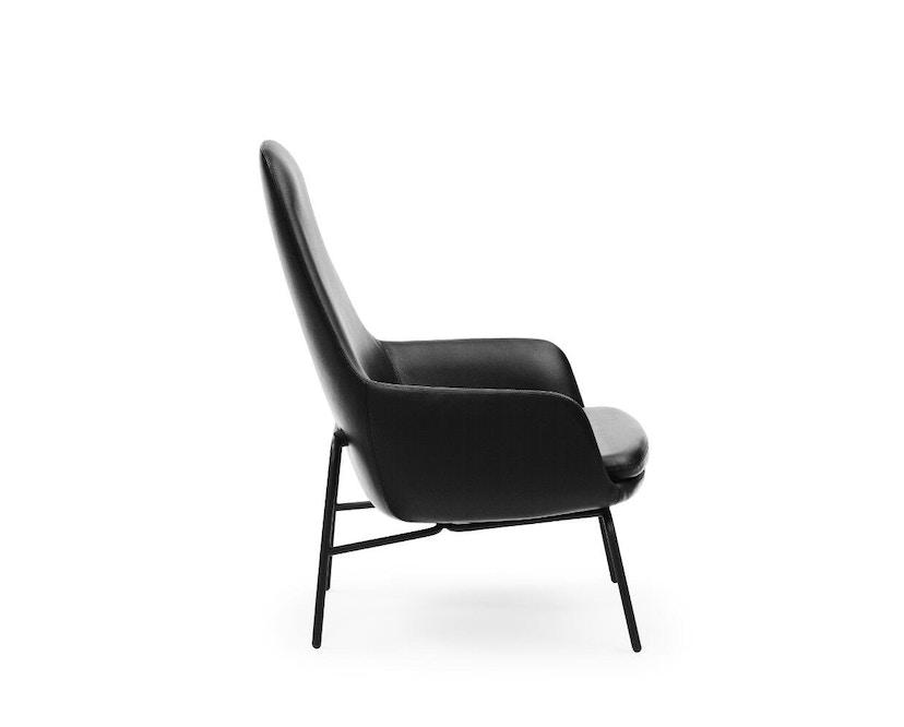 Normann Copenhagen - Era fauteuil hoog met stalen frame - zwart staal/ Tango leer 41599 - 2