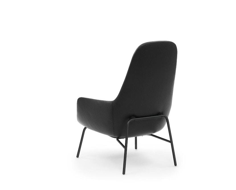 Normann Copenhagen - Era fauteuil hoog met stalen frame - zwart staal/ Tango leer 41599 - 3