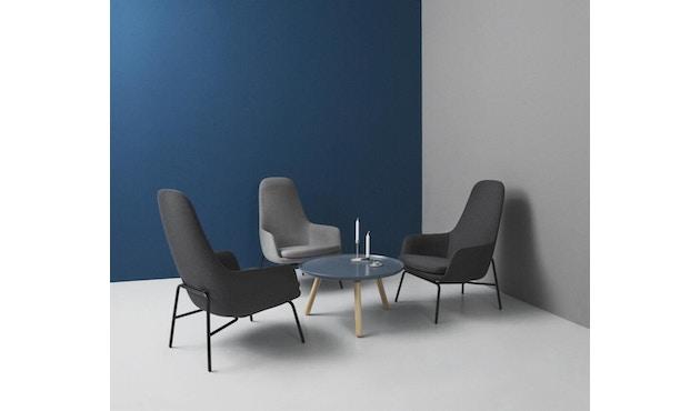 Normann Copenhagen - Era fauteuil hoog met stalen frame - zwart staal/ Tango leer 41599 - 4