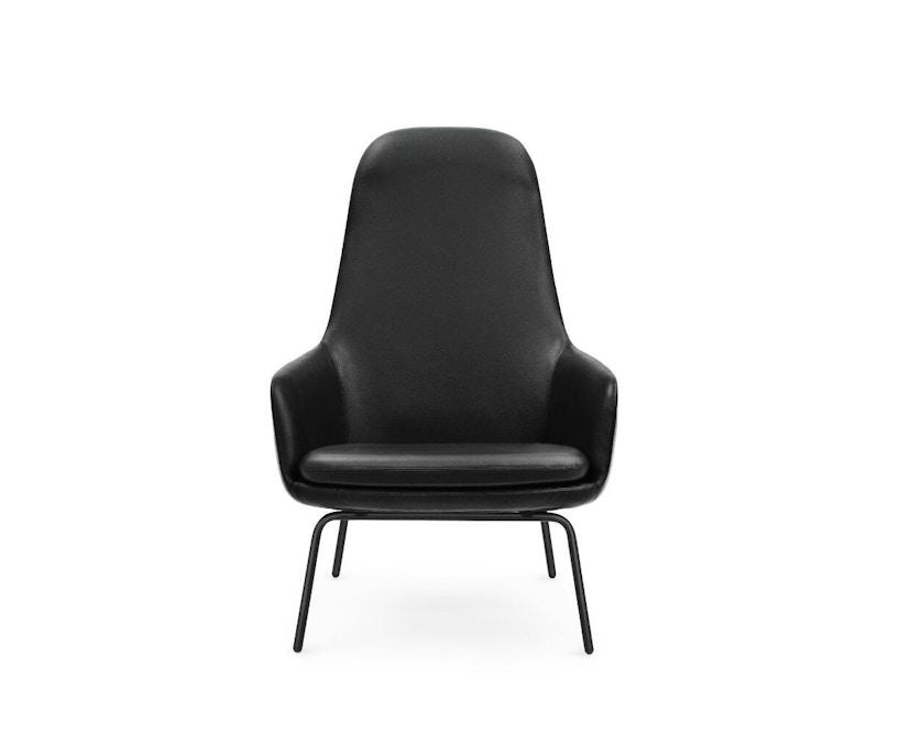 Normann Copenhagen - Era fauteuil hoog met stalen frame - zwart staal/ Tango leer 41599 - 0