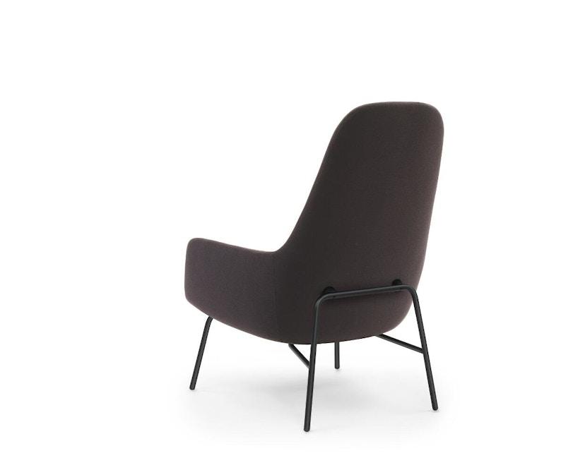 Normann Copenhagen - Era Sessel hoch mit Stahlgestell - Stoff Fame 64055 - schwarzes Stahlgestell - 3