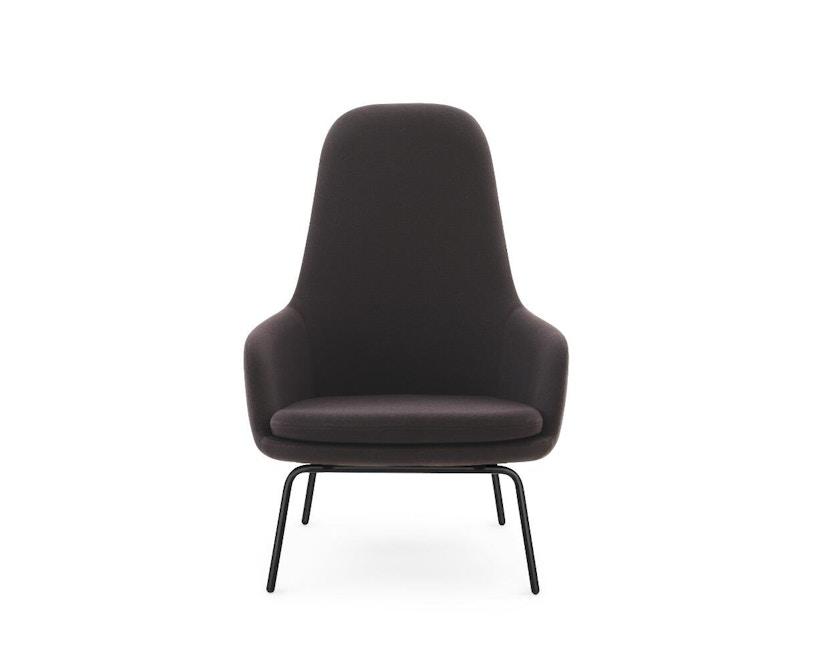Normann Copenhagen - Era Sessel hoch mit Stahlgestell - Stoff Fame 64055 - schwarzes Stahlgestell - 0